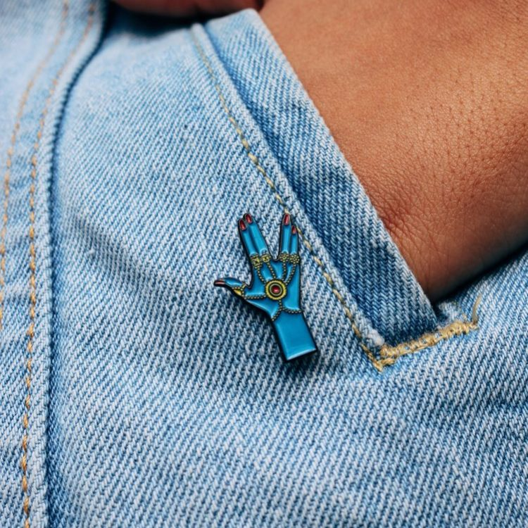 Haath-Phool Enamel Pin